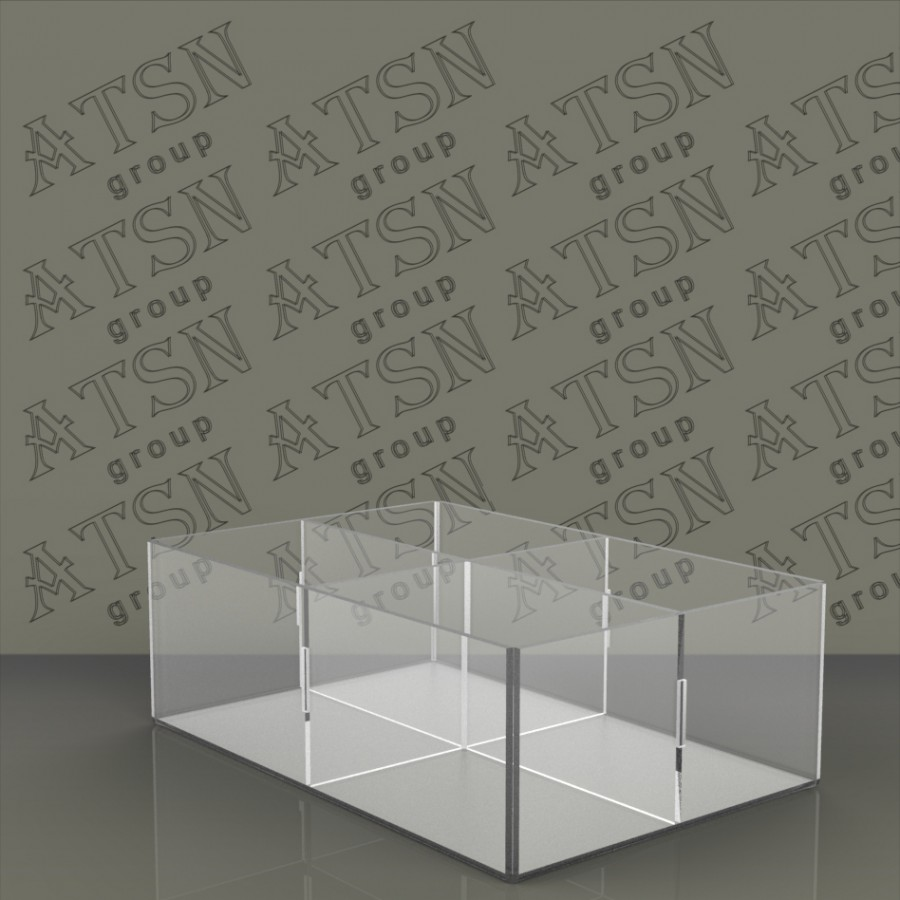 Акриловая коробка на 4 отделения