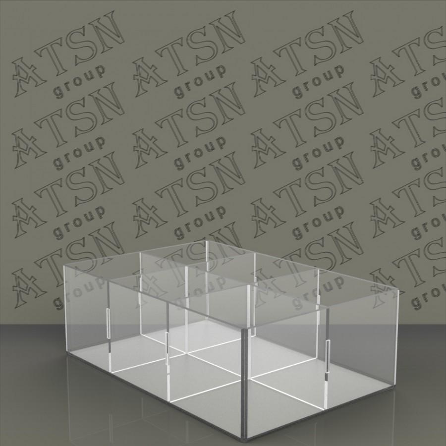 Акриловая коробка на 6 отделений