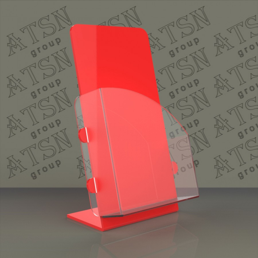 Буклетница для полиграфии из цветного пластика