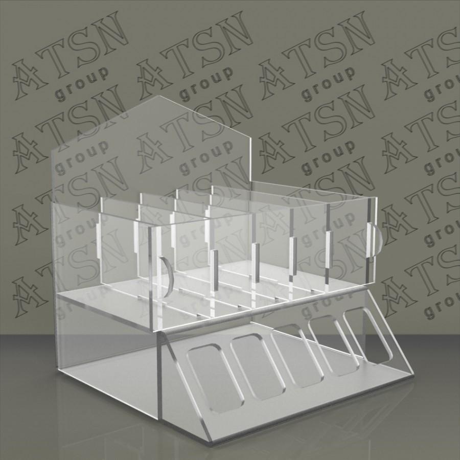Пластиковая подставка накопитель для косметики