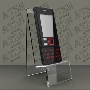 Акриловая подставка под телефон с ценником